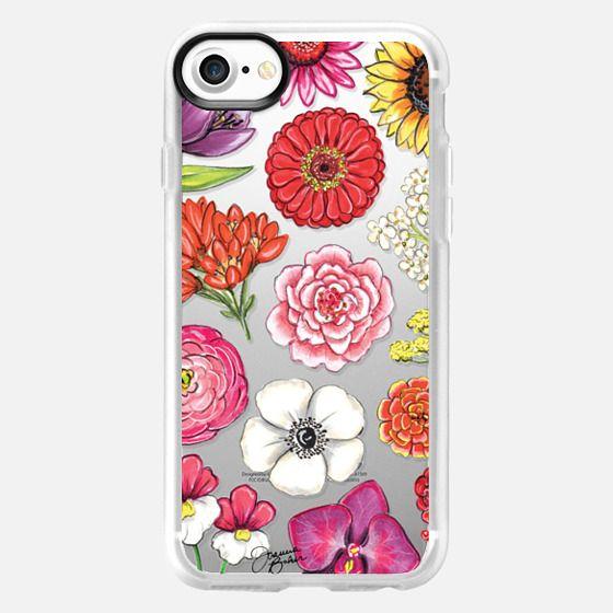 Vibrant Blooms Floral Illustration by Joanna Baker - Snap Case