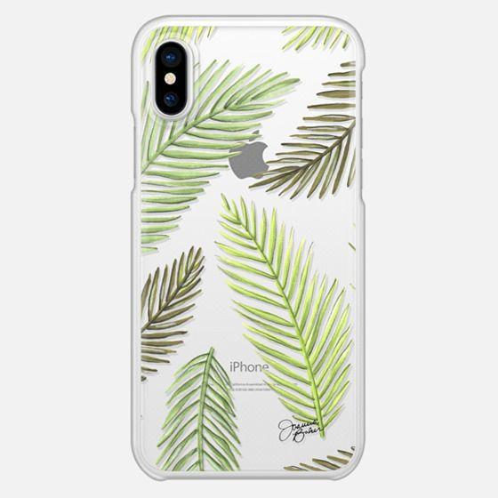 Palm Leaf Pattern Illustration by Joanna Baker - Snap Case