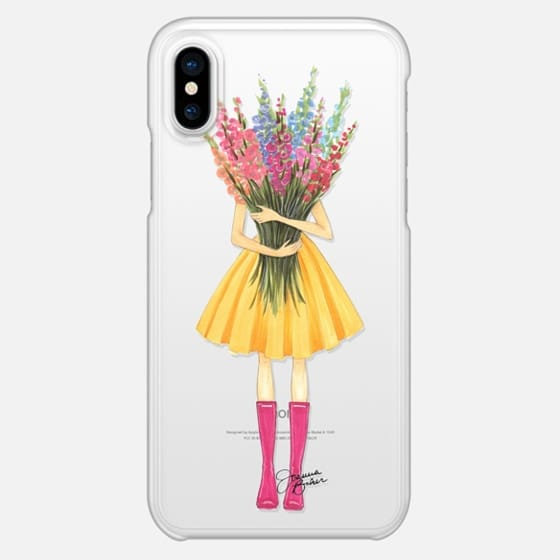 Bountiful Blooms Flower Fashion Illustration by Joanna Baker