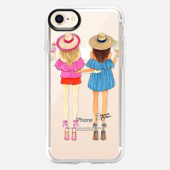 Summertime Happy Hour Besties Fashion Illustration by Joanna Baker - Snap Case
