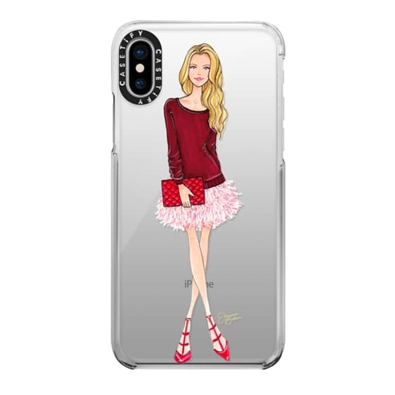 iPhone X Cases - Lovely Feathers Fashion Illustration by Joanna Baker