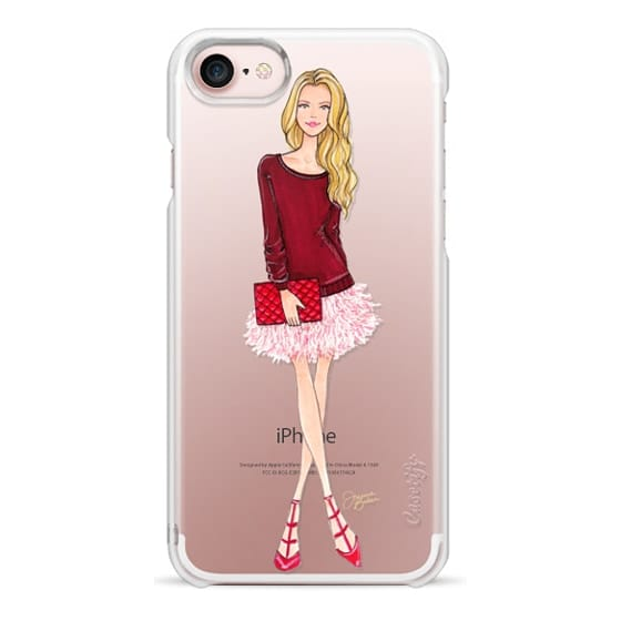 iPhone 7 Cases - Lovely Feathers Fashion Illustration by Joanna Baker