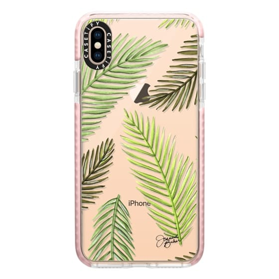 iPhone XS Max Cases - Palm Leaf Pattern Illustration by Joanna Baker