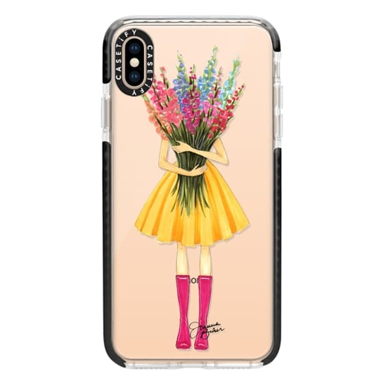 iPhone XS Max Cases - Bountiful Blooms Flower Fashion Illustration by Joanna Baker