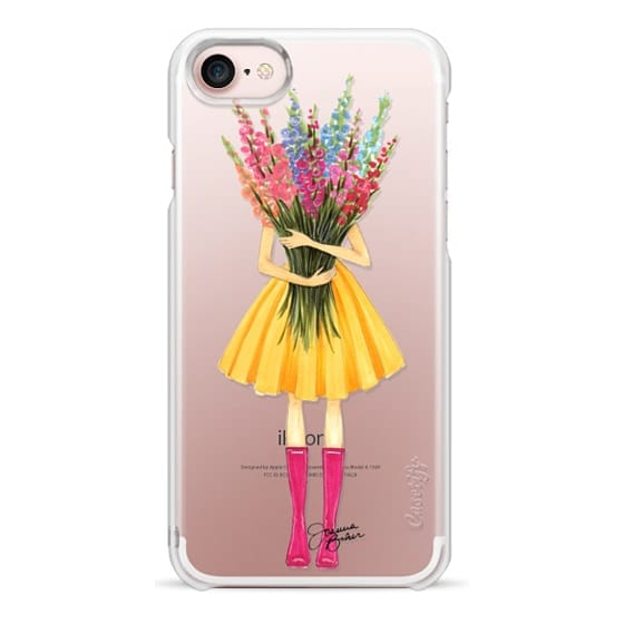 iPhone 7 Cases - Bountiful Blooms Flower Fashion Illustration by Joanna Baker