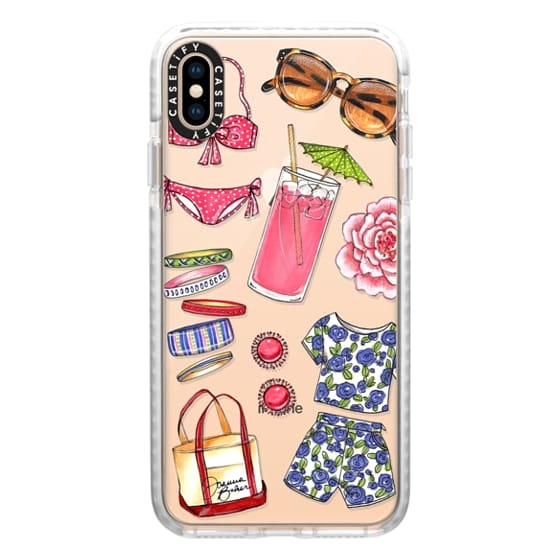 iPhone XS Max Cases - Poolside Favorites Summer Fashion Illustration by Joanna Baker