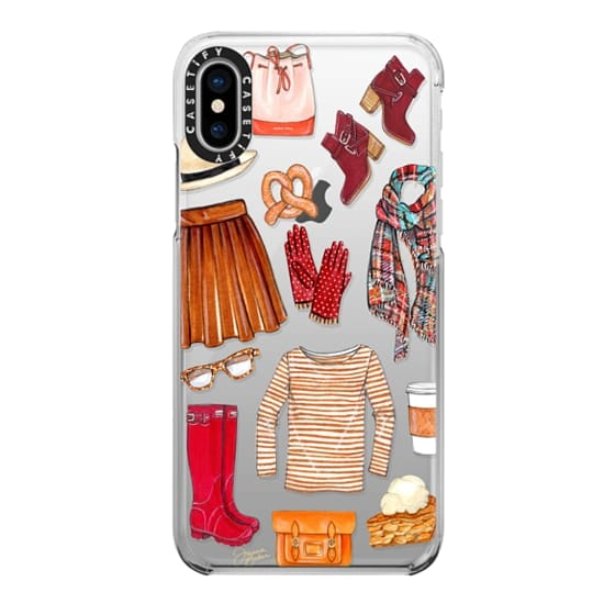 iPhone X Cases - Fall Favorites Fashion Illustration by Joanna Baker