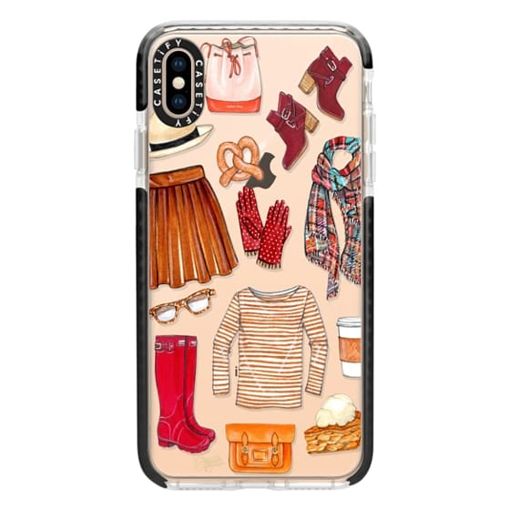 iPhone XS Max Cases - Fall Favorites Fashion Illustration by Joanna Baker