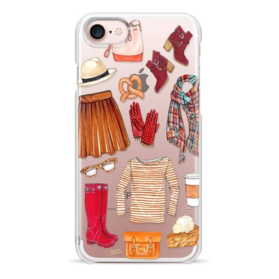 iPhone 7 Cases - Fall Favorites Fashion Illustration by Joanna Baker