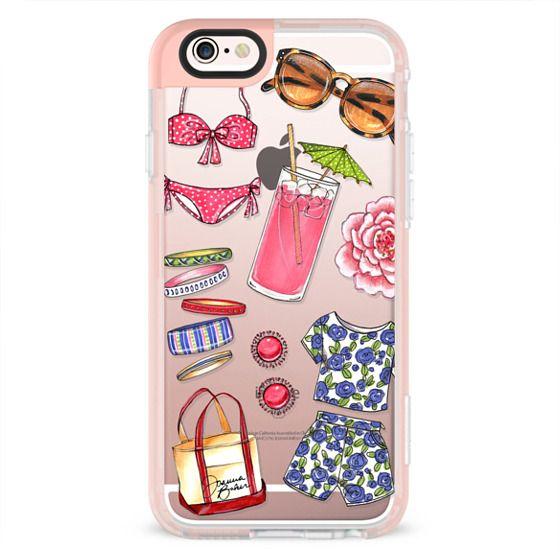 iPhone 6s Cases - Poolside Favorites Summer Fashion Illustration by Joanna Baker