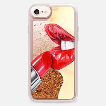 iPhone 7 Case The Perfect Red Lipstick Beauty Illustration by Joanna Baker