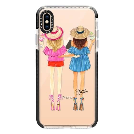 iPhone XS Max Cases - Summertime Happy Hour Besties Fashion Illustration by Joanna Baker