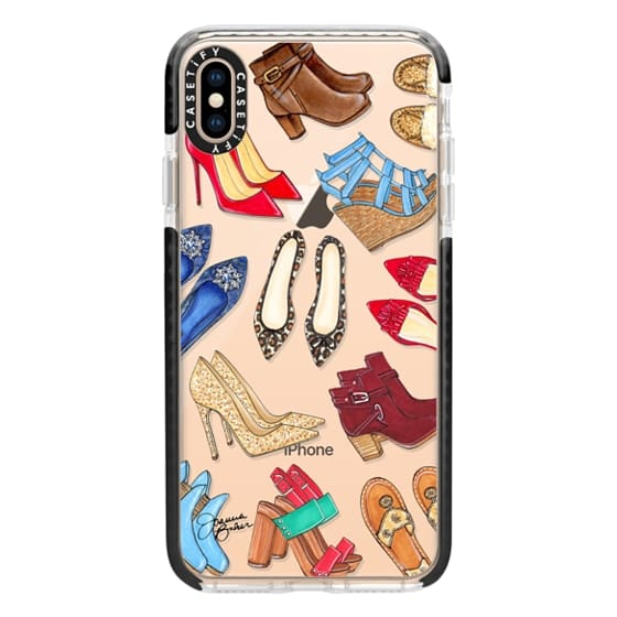 iPhone XS Max Cases - Shoe Lover Fashion Illustration by Joanna Baker