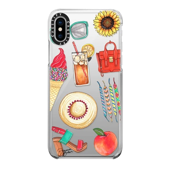 iPhone X Cases - Summer Favorites Fashion Illustration by Joanna Baker