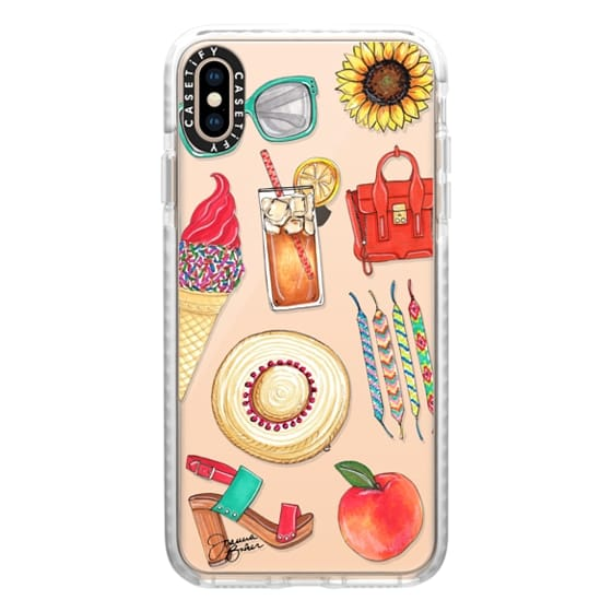 iPhone XS Max Cases - Summer Favorites Fashion Illustration by Joanna Baker