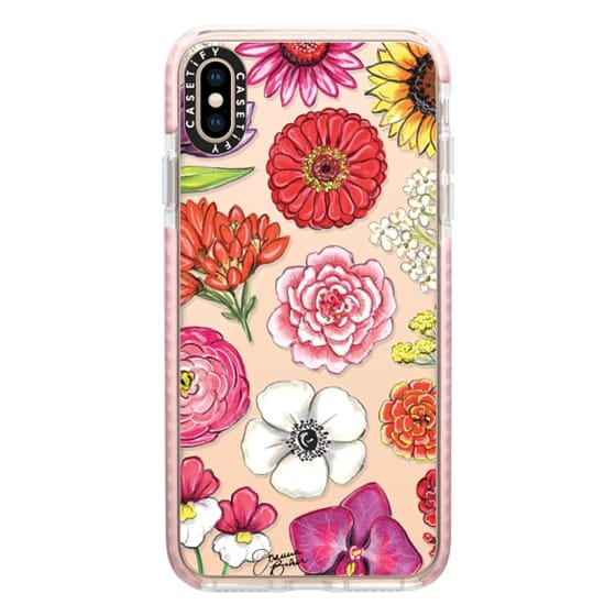 iPhone XS Max Cases - Vibrant Blooms Floral Illustration by Joanna Baker