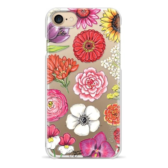iPhone 7 Cases - Vibrant Blooms Floral Illustration by Joanna Baker