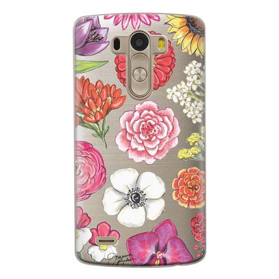 Lg G3 Cases - Vibrant Blooms Floral Illustration by Joanna Baker