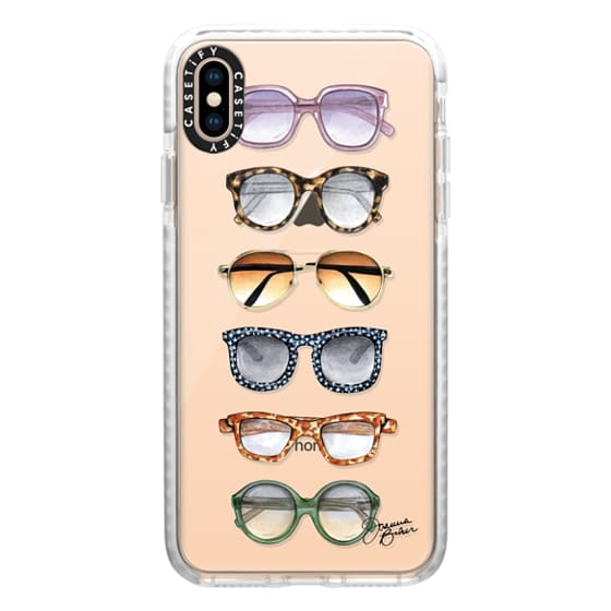 iPhone XS Max Cases - Sunglasses Fashion Illustration by Joanna Baker