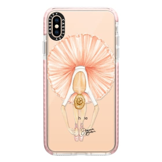 iPhone XS Max Cases - Ballerina Tutu Fashion Illustration by Joanna Baker
