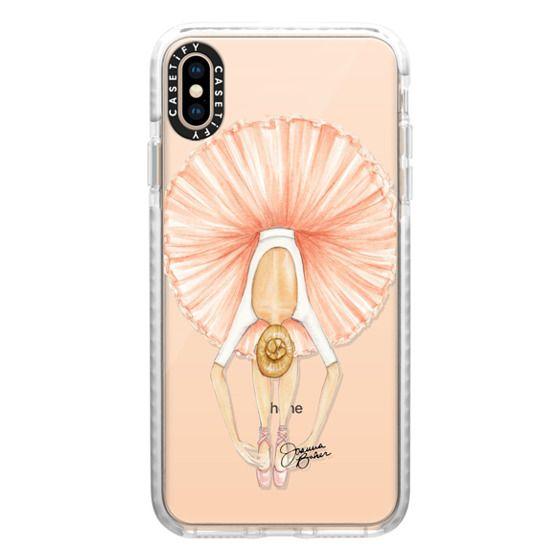 iPhone XS Max Cases - Ballerina Tutu Fashion Illustration by Joanna Baker