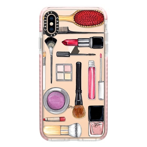 iPhone XS Max Cases - Beauty Editor Fashion Makeup Illustration by Joanna Baker
