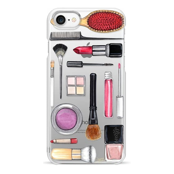 iPhone 7 Cases - Beauty Editor Fashion Makeup Illustration by Joanna Baker