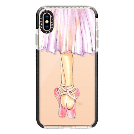 iPhone XS Max Cases - Ballerina En Pointe Ballet Dancer Illustration by Joanna Baker