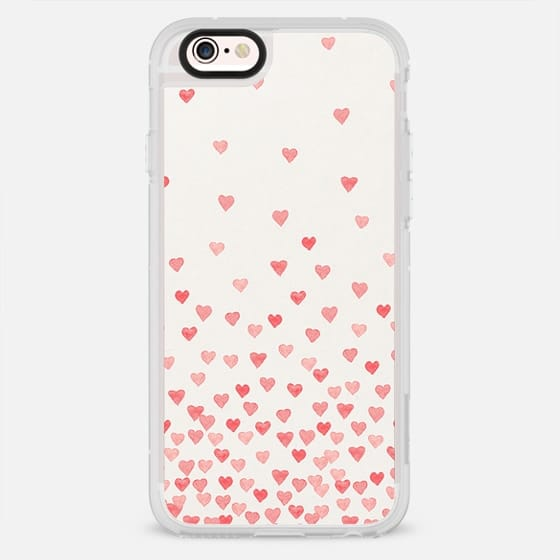 RED WATERCOLOR HEARTS - New Standard Case