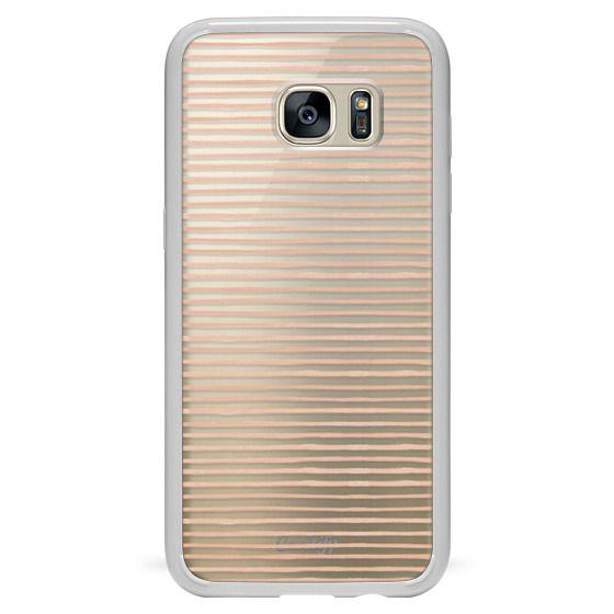 Samsung Galaxy S7 Edge Cases - BLUSH WATERCOLOR STRIPES