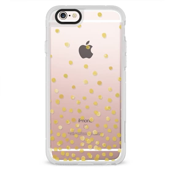 iPhone 6s Cases - YELLOW WATERCOLOR DOTS transparent