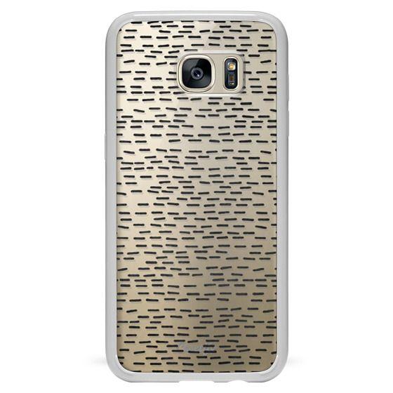 Samsung Galaxy S7 Edge Cases - BLACK STRIPES transparent