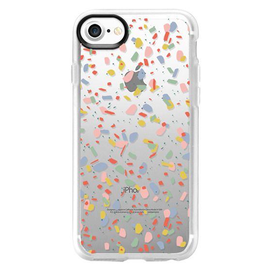 Terrazzo galaxy purple orange gold iPhone 11 case