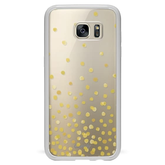 Samsung Galaxy S7 Edge Cases - YELLOW WATERCOLOR DOTS transparent