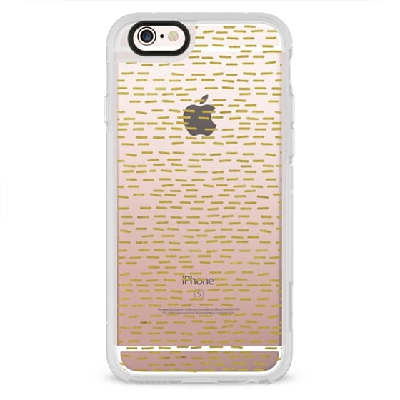 iPhone 6s Cases - GOLD STRIPES transparent