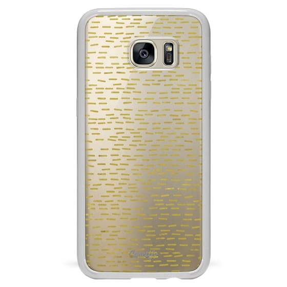 Samsung Galaxy S7 Edge Cases - GOLD STRIPES transparent