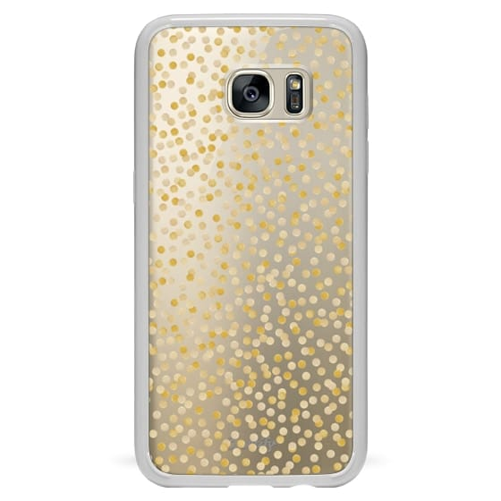 Samsung Galaxy S7 Edge Cases - GOLD CONFETTI