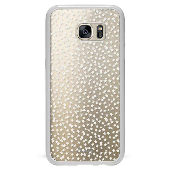 Samsung Galaxy S7 Edge Cases - SILVER STARS CONFETTI