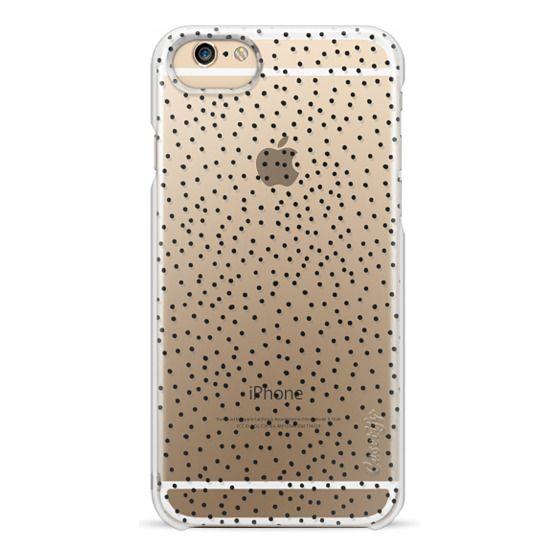 iPhone 6s Cases - BLACK DOTS transparent