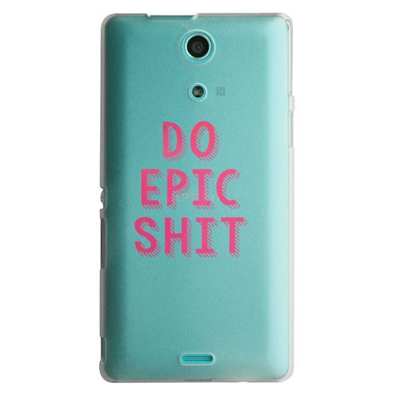 Sony Zr Cases - DO EPIC SHIT transparent