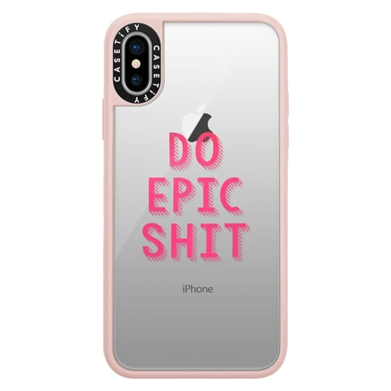 iPhone X Cases - DO EPIC SHIT transparent