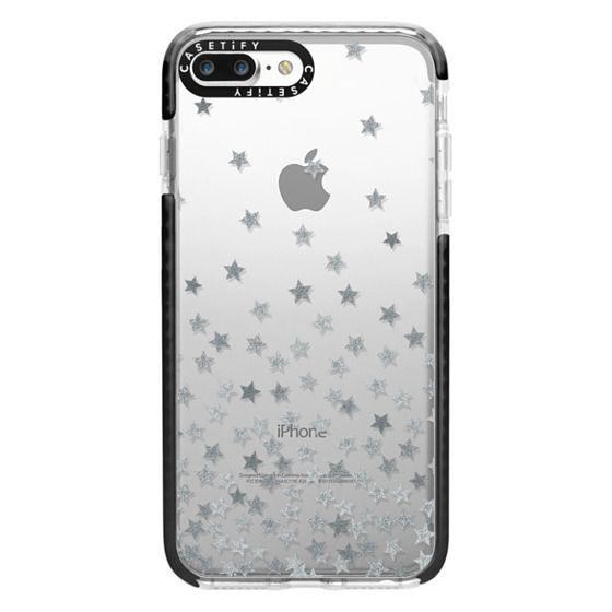 iPhone 7 Plus Cases - STARS SILVER transparent