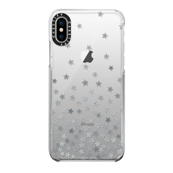 iPhone X Cases - STARS SILVER transparent