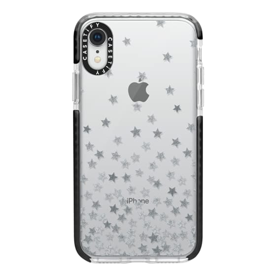 iPhone XR Cases - STARS SILVER transparent