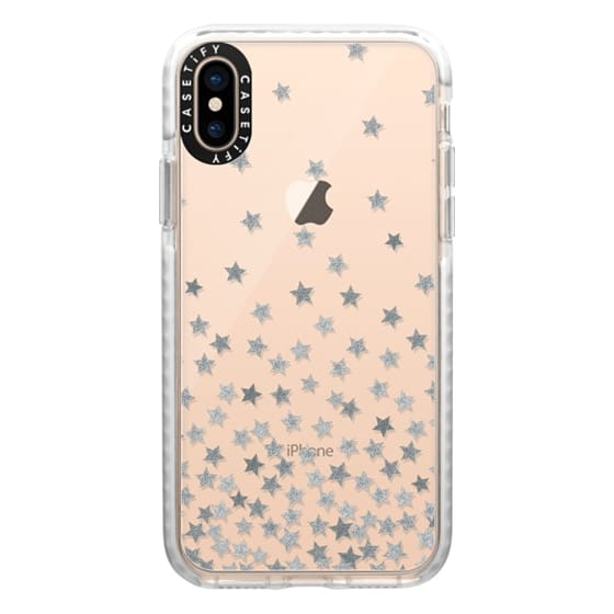 iPhone XS Cases - STARS SILVER transparent