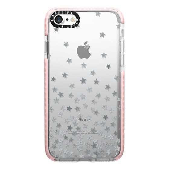 iPhone 7 Cases - STARS SILVER transparent