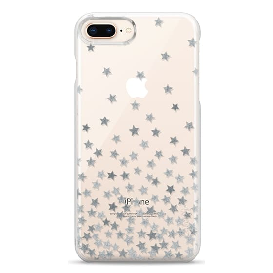 iPhone 8 Plus Cases - STARS SILVER transparent