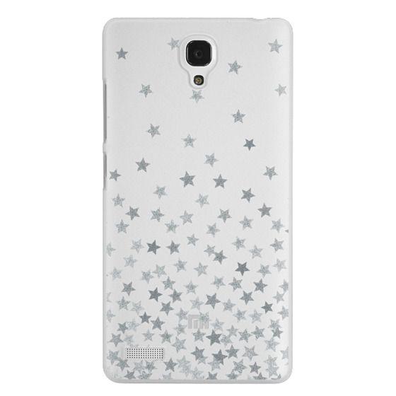 Redmi Note Cases - STARS SILVER transparent