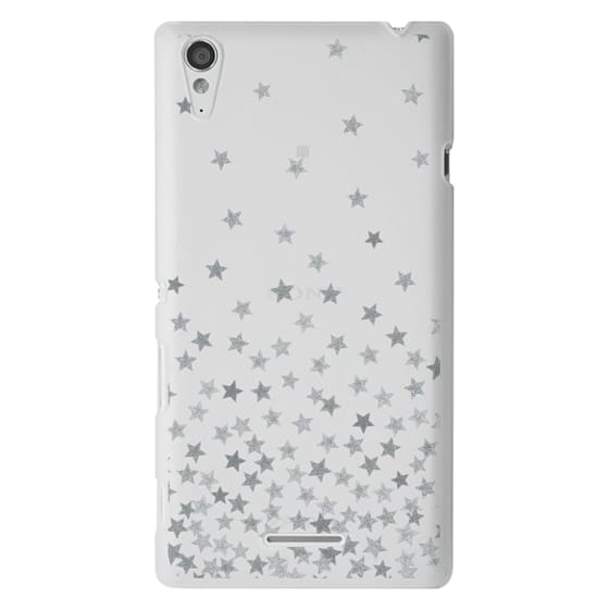 Sony T3 Cases - STARS SILVER transparent
