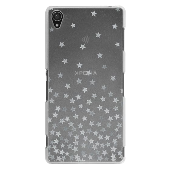 Sony Z3 Cases - STARS SILVER transparent